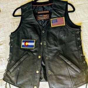 Women's LEATHER Motorcycle Vest